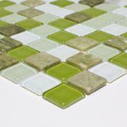 Pastilha 3,0x3,0 Mix Mosaic Green Pç Van Gogh