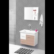 Conjunto Quality Banheiro 60cm C/esp. Branco/maple Pç Fimap
