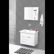 Conjunto Quality Banheiro 60cm C/esp. Branco Pç Fimap