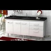 Gabinete Cozinha Criattiva 1,74M Branco Pç Fimap