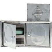 Saboneteira Aço Conjugado e Porta Shampoo 216Crsl Moldenox