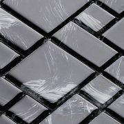 Pastilha de Vidro 30x30 Lbg3t-MONET BLACK 3 TAMANHOS La Bella