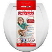 Assento Sanitário Almofadado Oval Convencional Branco Línea Max Mebuki