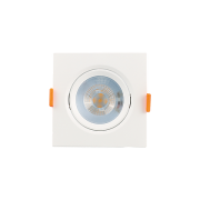 Kit 16 Mini Spot LED 5W 3000K Embutir Quadrado Bivolt Luminatti