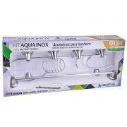 Kit Banheiro Aquainox 6 Peças Aquaplás