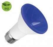 Lâmpada PAR20 LED 6W Azul E27 IP65 Bivolt Luminatti