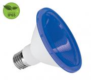 Lâmpada PAR30 LED 10W Azul E27 IP65 Bivolt Luminatti