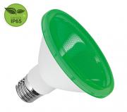 Lâmpada PAR38 LED 15W Verde E27 IP65 Bivolt Luminatti