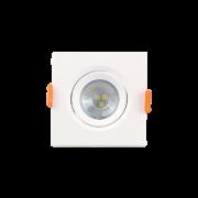 Mini Spot LED 3W 3000K Embutir Quadrado Bivolt Luminatti
