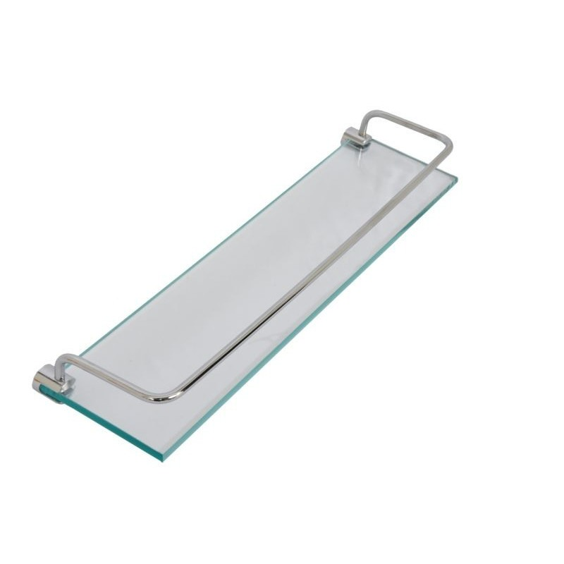 Kit Luxo Retangular Em Vidro Incolor 5 Pçs Vildrex