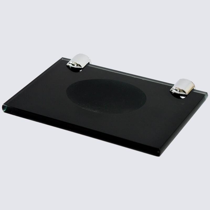 Kit Luxo Retangular Em Vidro Preto 5 Pçs Vildrex