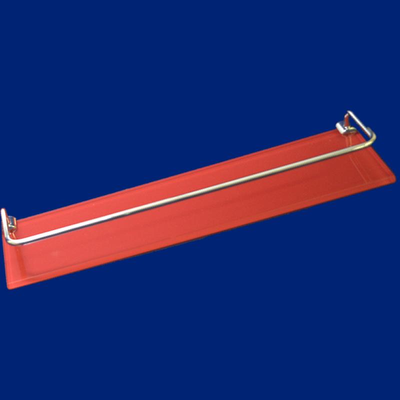 Kit Luxo Retangular Em Vidro Vermelho 5 Pçs Vildrex