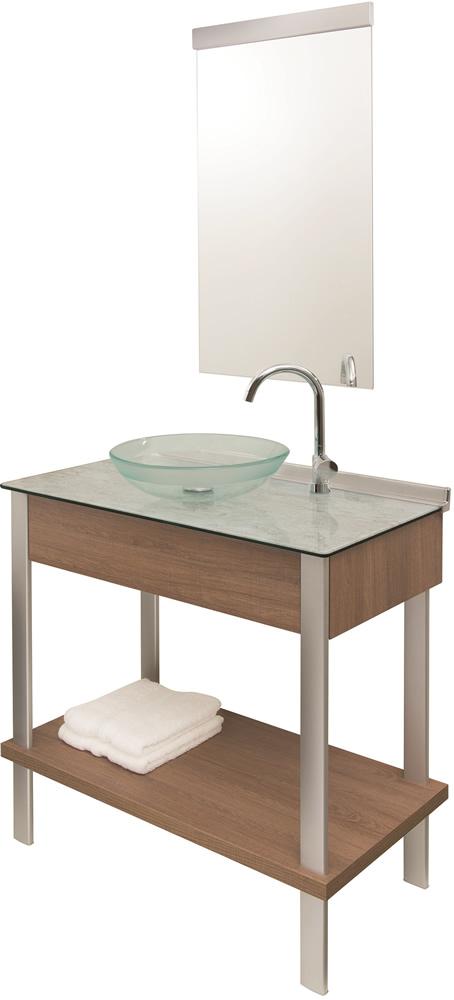 Gabinete c/ Espelho Cris-wood Set 80cm 954 Cris