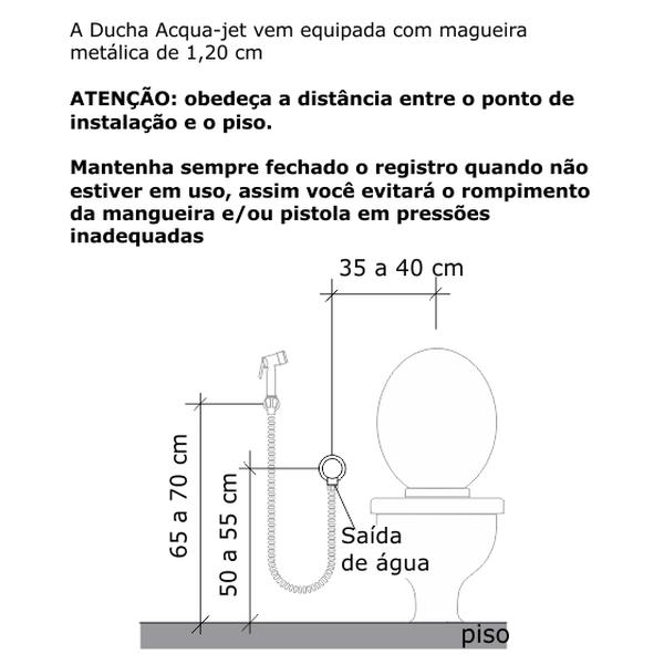Ducha Higiênica Creato Acqua Jet Ceramico Cromado Dn15 1/2 2195-Crecer-Cr Fabrimar