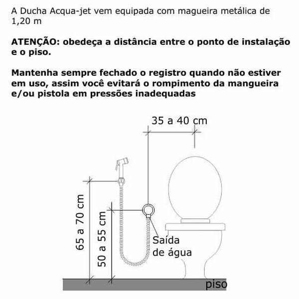 Ducha Higiênica Goa Acqua Jet Cromado Dn15 1/2 2195-GOA-CR Fabrimar
