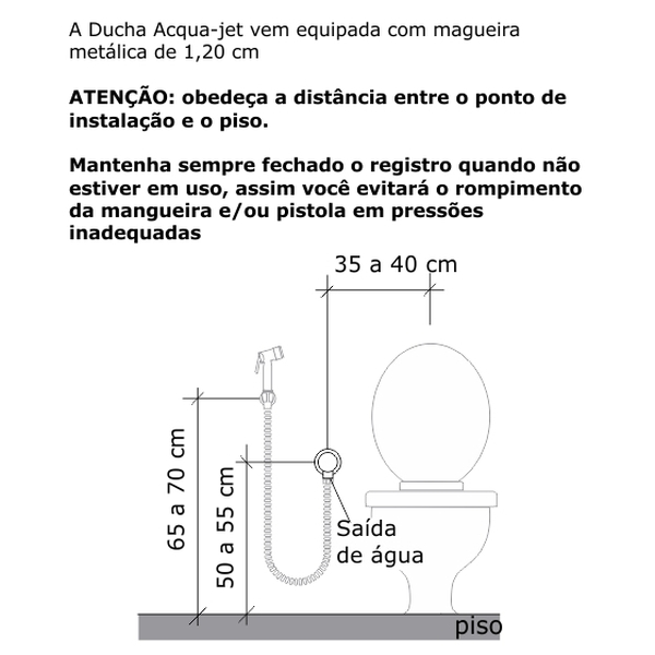 Ducha Higiênica Zeta Acqua Jet Ceramico Cromado Dn15 1/2 2195-ZETCER-CR Fabrimar