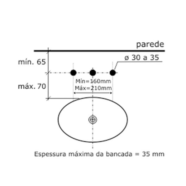 Misturador de Lavatório Oggi Cromado C-1875-OG-CR Fabrimar