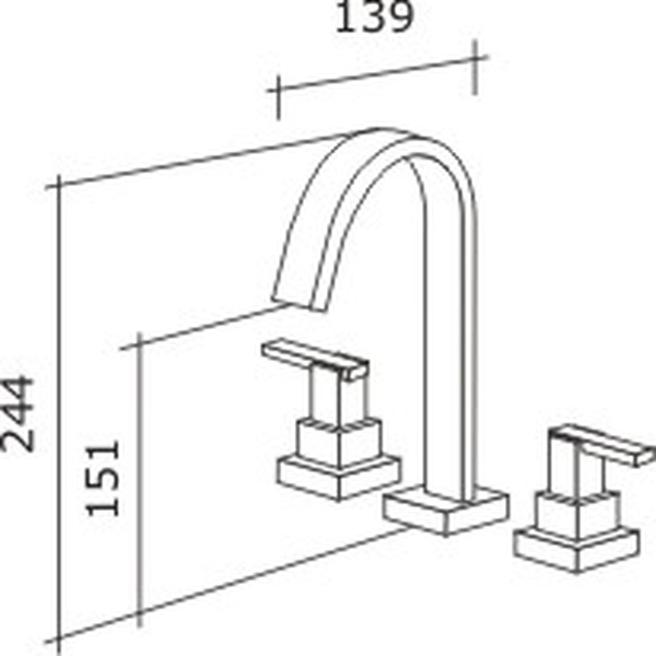 Misturador de Lavatório Shiva Tubo Cromado C-1876-SH-CR Fabrimar