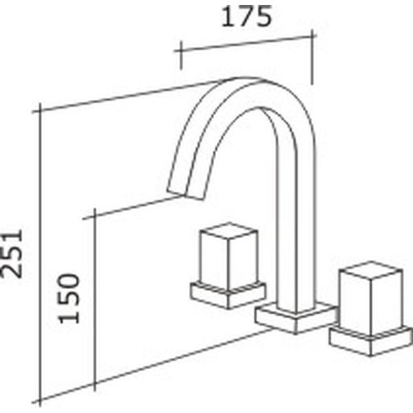 Misturador de Lavatório Vitra Tubo Cromado C-1876-VI-CR Fabrimar
