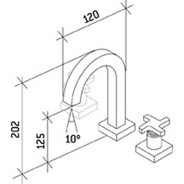 Misturador de Lavatório Zeta Cromado C-1876-ZET-CR Fabrimar