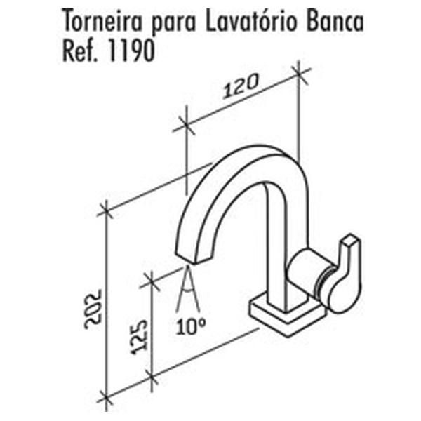 Torneira de Lavatório Creato Banca Cromado Dn15 1/2 1192-CRE-CR Fabrimar
