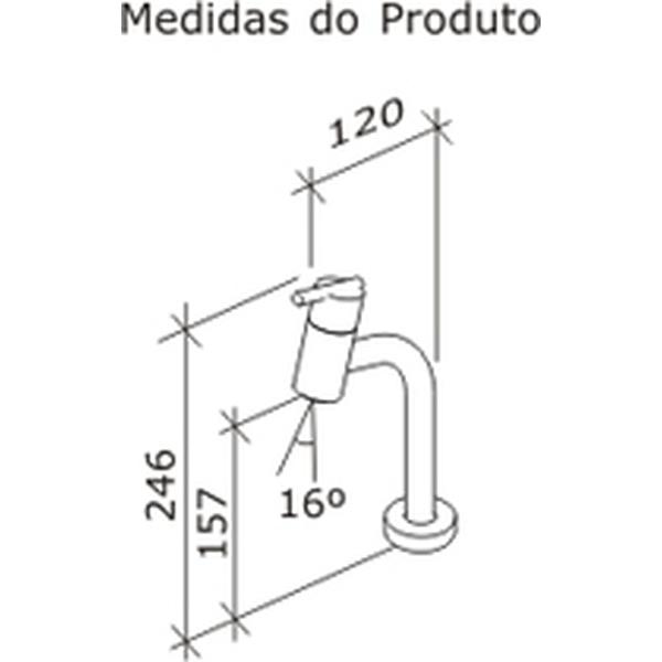 Torneira de Lavatório Gioia Banca Cromado Dn15 1/2 1197-GIO-CR Fabrimar