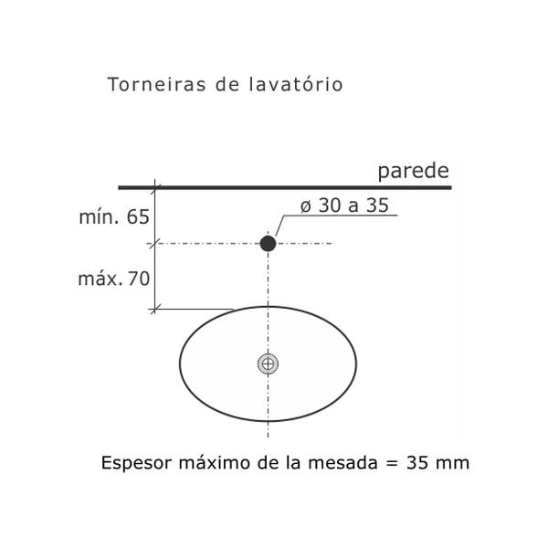 Torneira de Lavatório Loft Cromado Banca Dn15 1/2 1194-LO-CR Fabrimar