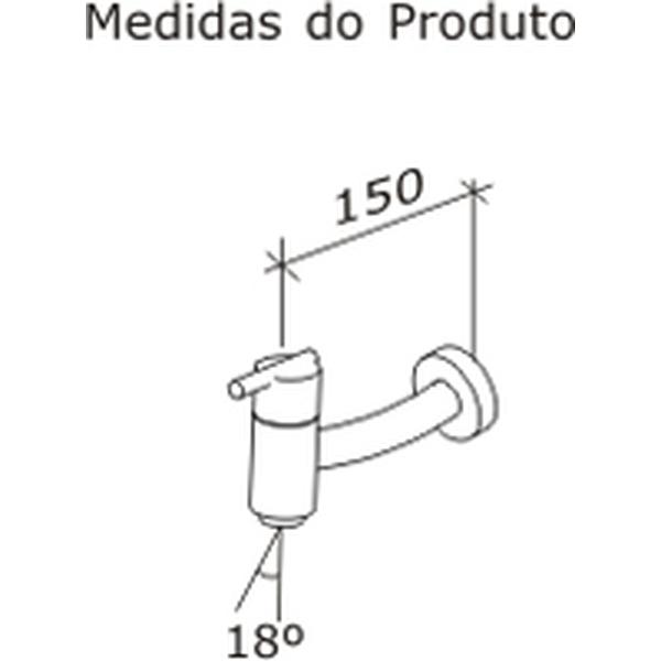 Torneira de Lavatório Gioia Parede Cromado Dn15 1/2 1174-GIO-CR Fabrimar
