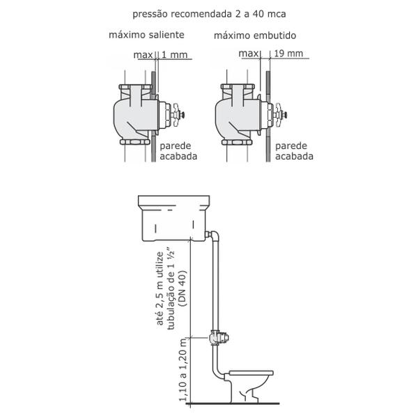 Acabamento Válvula Flux Cromado A-3650-CR/CR Fabrimar
