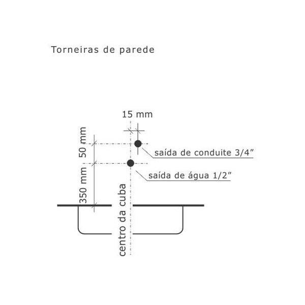 Torneira de Lavatório Aquarius Cromado 1193-A Fabrimar