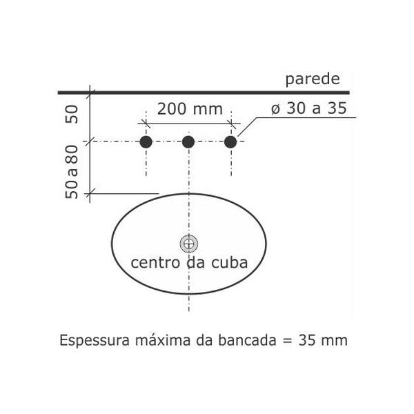 Misturador de Cozinha Banca Pratika Cromado 1256-P-CR Fabrimar