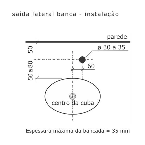 Torneira de Saída Lateral Pratika Cromado Banca 1167-P-CR Fabrimar