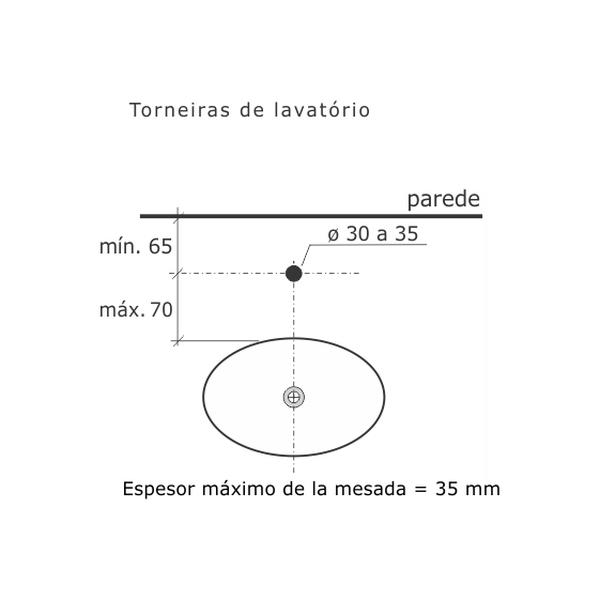 Torneira de Lavatório Misty Cromado 1193-MY Fabrimar