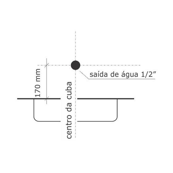 Torneira de Cozinha Digital Line Cromado Parede 1169-DL-CR Fabrimar