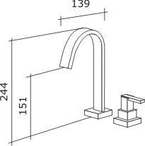 Torneira de Lavatório Shiva Banca Cromado Dn15 1/2 1194-SH-CR Fabrimar