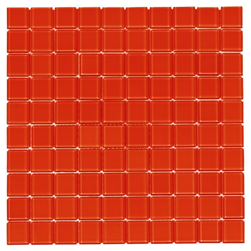 Pastilha de Vidro 30x30 Vermelho 28x28mm Pç Sicmol