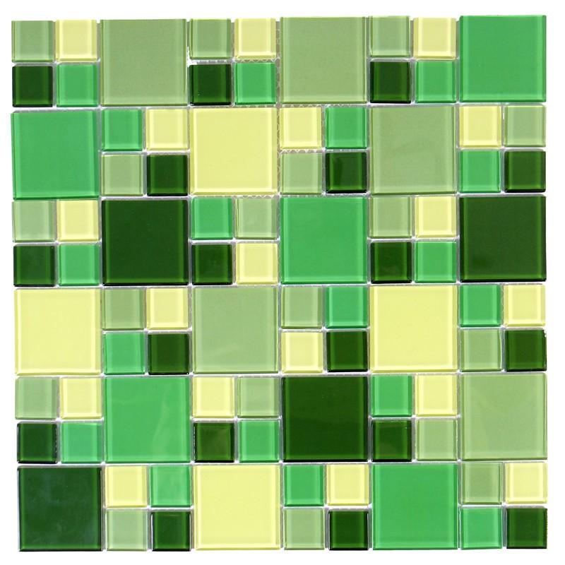 Pastilha de Vidro 30x30 Oliva 23x23+48x48mm Pç Sicmol