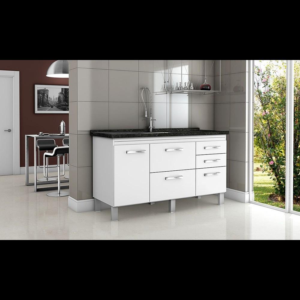 Gabinete Cozinha Magnus 1,44m Branco Pç Fimap