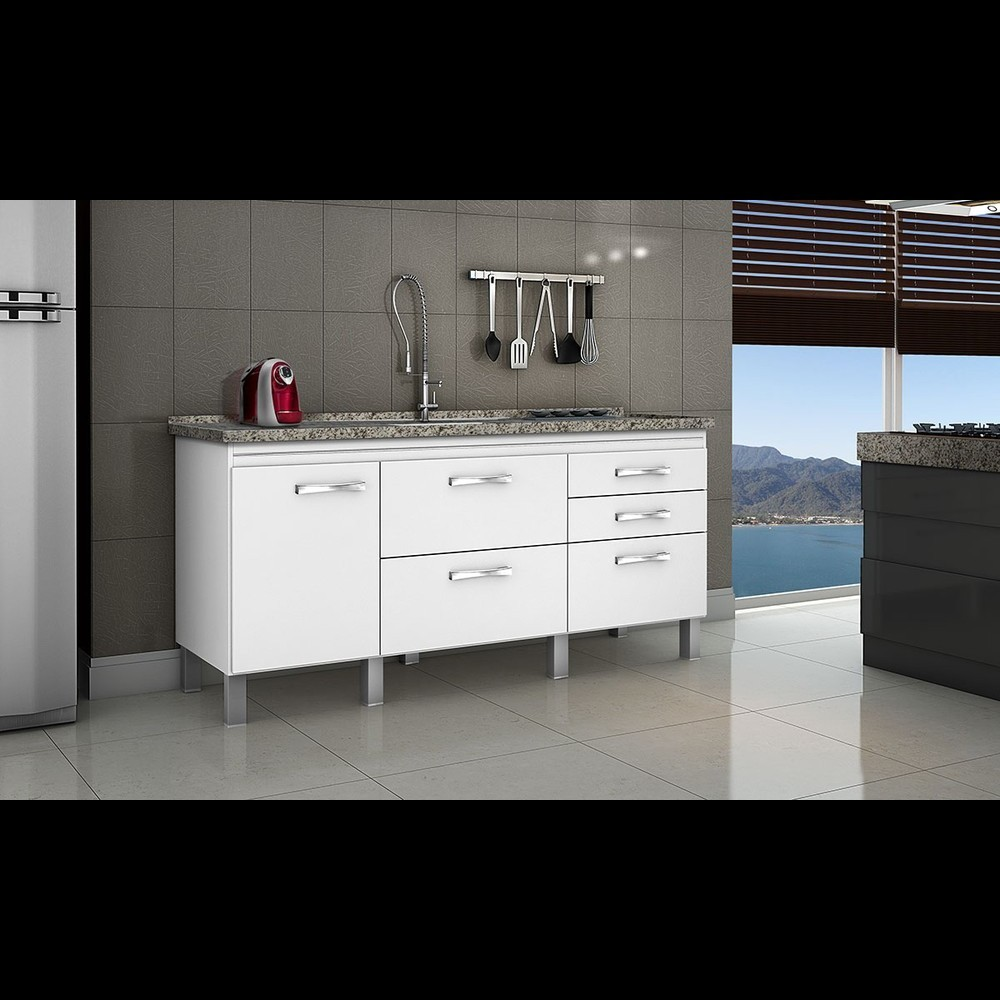 Gabinete Cozinha Magnus 1,74m Branco Pç Fimap