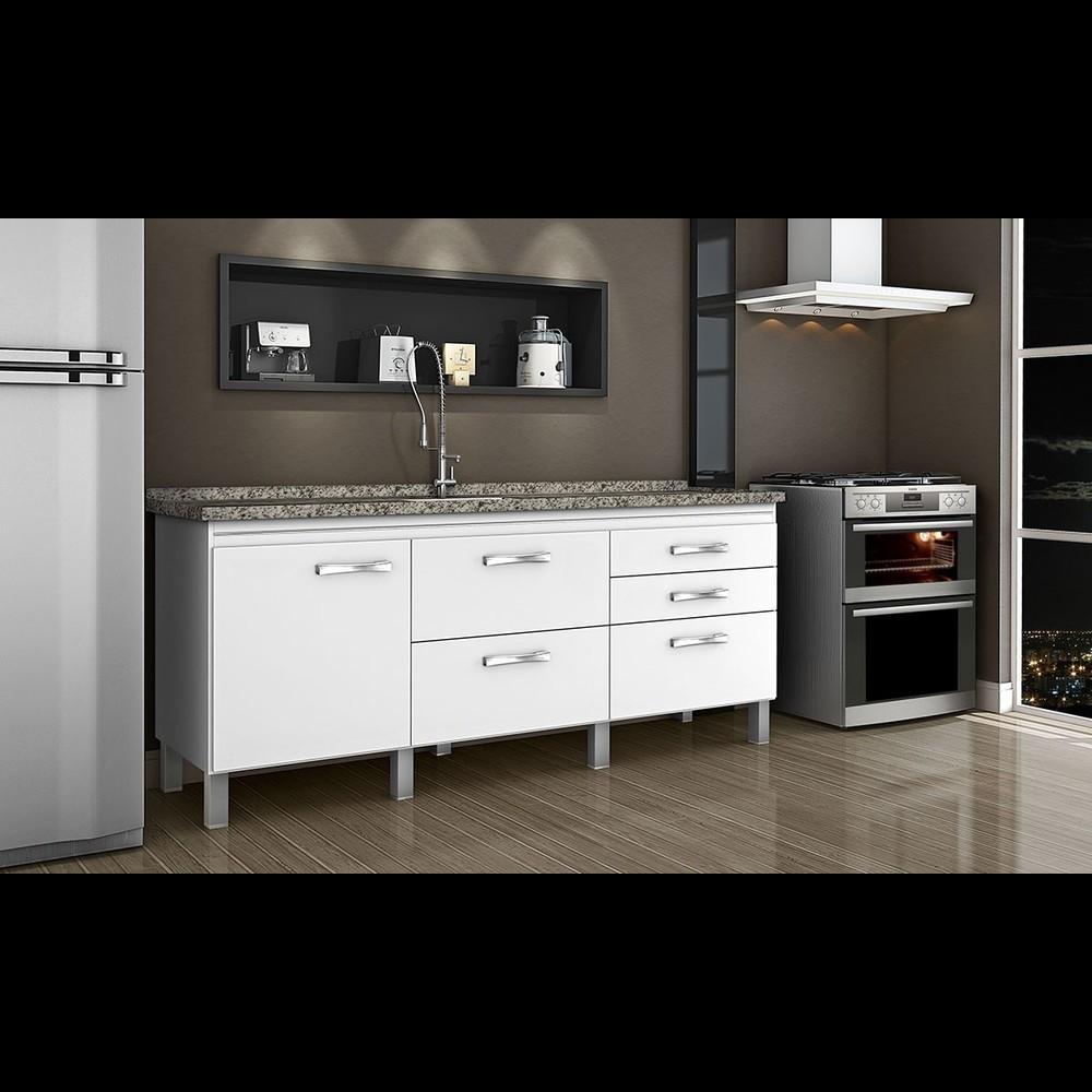 Gabinete Cozinha Magnus 1,94m Branco Pç Fimap