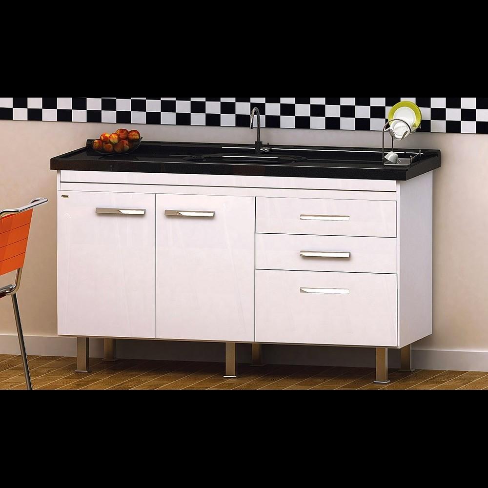 Gabinete Cozinha Criattiva 1,44M Branco Pç Fimap