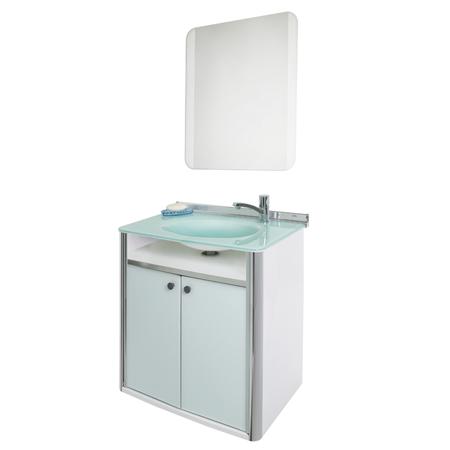 Gabinete C/espelho Cris-CLASSIC 62,5CM BRANCO 931 Cris