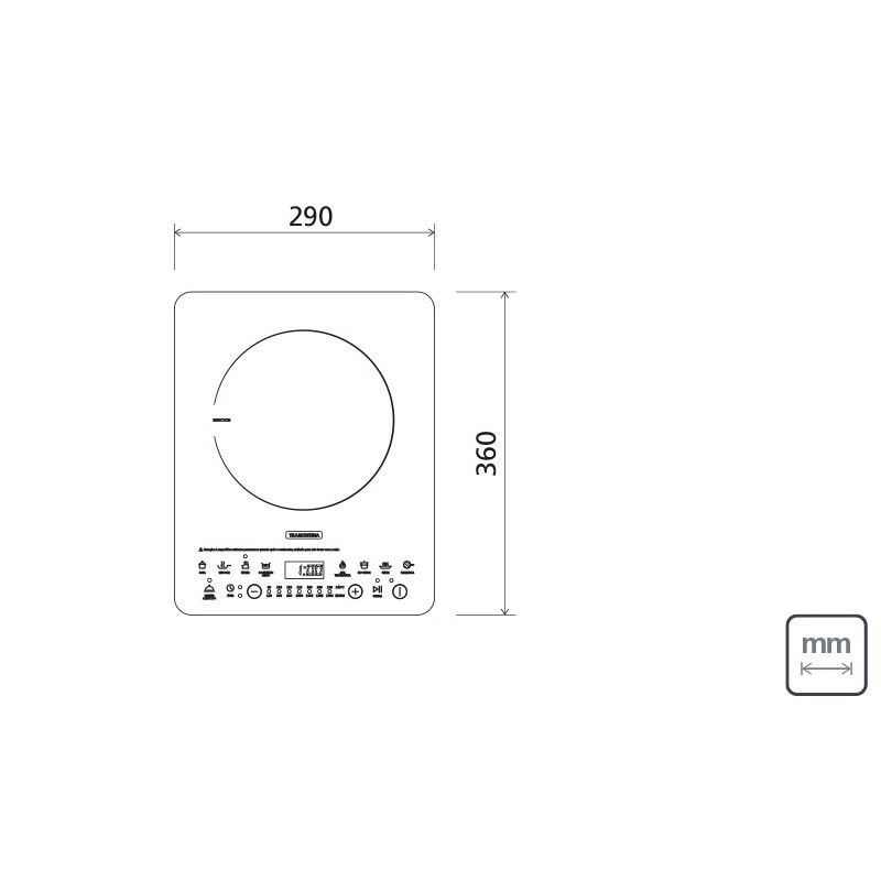 Cooktop Portatil Indução Mono Slim Ei30 127V Vitrocerâmico Tramontina
