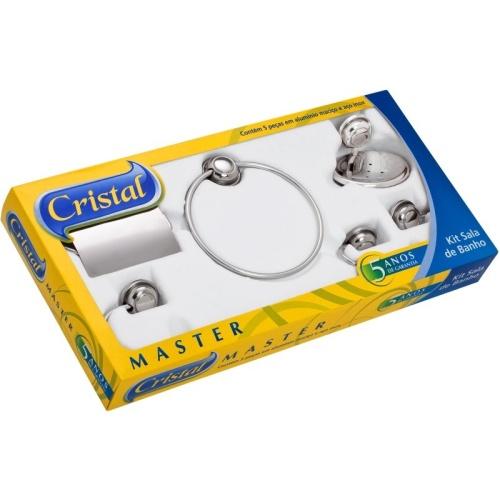 Cristal Master Alumínio/aço Kit com 5 Peças Kcris-5 Moldenox