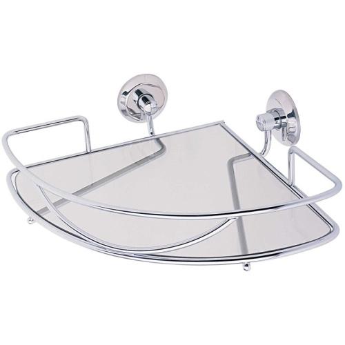 Versailles Porta Shampoo Canto com Vidro 50-V Moldenox