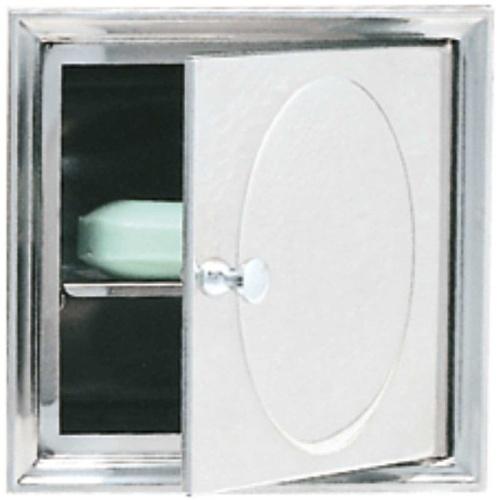Saboneteira Aço de Embutir com Porta e Bandeja 216-ARSL Moldenox