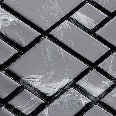 Pastilha de Vidro 30x30 Lbg3t-MONET BLACK 3 TAMANHOS La_bella