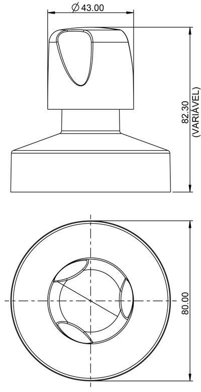 Acabamento F27 Plástico Cromado para Registro 11/2 Plástico Cromado 4900 Lorenzetti