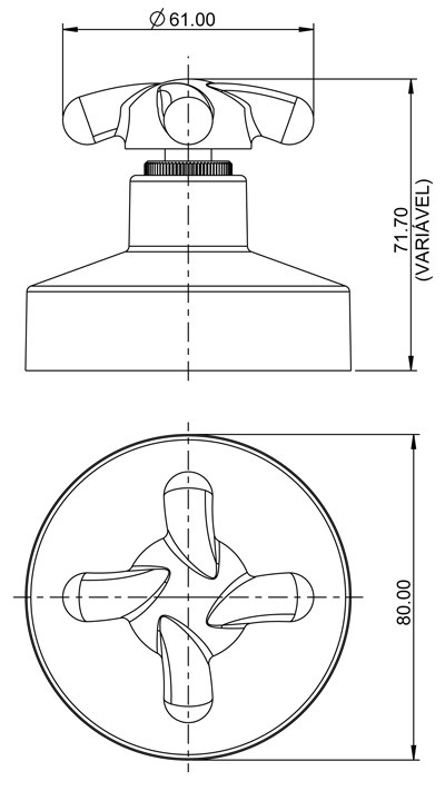 Acabamento F34 Branco para Registro 11/2 Branco 4900 Lorenzetti