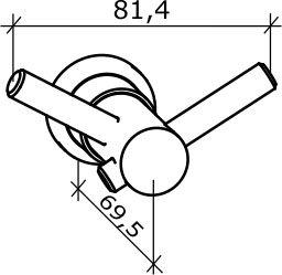 Cabide Casual Cromado Duplo 5090-Ca-Cr Fabrimar